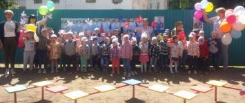 Мини-парад Победы в детском саду.